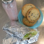 Putenwrap Chocolate-Chip-Cookies Erdbeer-Bananen-Smoothie