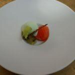 Lachs-Pastrami Sellerieschaum Salzgurke